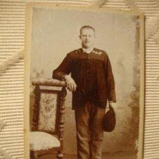Fotografía antigua: ANTIGUA FOTOGRAFIA ALBÚMINA EN CARTON, ORIGINAL, S.XIX, CA. 1880. Lote 35428542