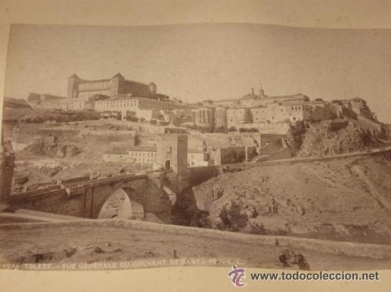 Fotografía antigua: Dos vistas de Segovia y Toledo, de Levy, montadas en la misma hoja de álbum antiguo (ver imágenes) - Foto 2 - 35445484