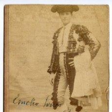 Fotografía antigua: EL TORERO EMILIO TORRES, BOMBITA, POR EL FOTÓGRAFO EMILIO BEAUCHY DE SEVILLA, 9,2 X 14,5 CMS. 1900 ?. Lote 35516522