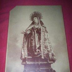 Fotografía antigua: CABINET AVILA SANTA TERESA FOTOGRAFO TORRON 25 X 17 CM.. Lote 35593179