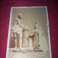 Fotografía antigua: CABINET 17X11CM SANTA TERESA Y CRISTO. AVILA. Lote 35593189