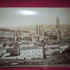 Fotografía antigua: GRAN ALBUMINA 27,5X21,5 CM. VISTA GENERAL DE BURGOS LL LEVY. S.XIX. Lote 35593207