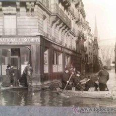Fotografía antigua: MAGNIFICO ALBUM CON 25 FOTOGRAFIAS ORIGINALES DE LA INUNDACIÓN DE PARIS DE 1910. INONDATION.. Lote 35598801