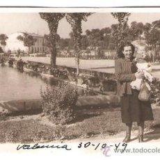 Fotografía antigua: VALENCIA. PASEO AL MAR. AÑO 1949. Lote 35695461
