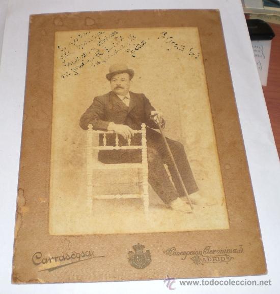 ANTIGUA FOTOGRAFIA - FOTOGRAFO CARRASCOSA - MADRID - 1903 (24 CM X 17 CM) (Fotografía Antigua - Albúmina)