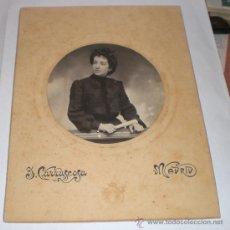 Fotografía antigua: ANTIGUA FOTOGRAFIA - FOTOGRAFO CARRASCOSA - MADRID - 1903 (23 CM X 17 CM). Lote 35885054