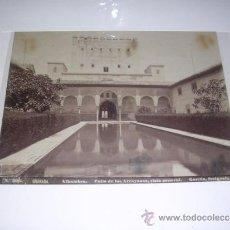 Fotografía antigua: Nº 305 GRANADA ALHAMBRA PATIO DE LOS ARRAYANES ,VISTA GENERAL. GARZON FOTGRAFO 21X16,5 CM. . Lote 35982781