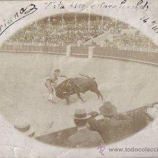 Fotografía antigua - TORERO FORTUNA, DE NOVILLERO 14 JUNIO 1914, VISTA ALEGRE (CARABANCHEL) MADRID - 36010511