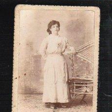 Fotografía antigua: FOTOGRAFIA DE ESTUDIO DE UNA SEÑORA. HECHA POR SAINZ, HABANA.. Lote 36083666
