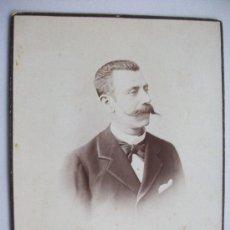 Fotografía antigua: GRAN FOTO DE SEÑOR ESPAÑOL DEL SIGLO XIX . DE JUAN RODRIGUEZ, SEVILLA .... 21 X 28 CM. Lote 36169455