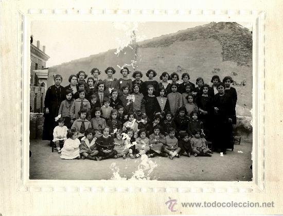 ESCUELA, MURCIA ??? FOTO DE COLEGIO AÑOS 20 (Fotografía Antigua - Albúmina)