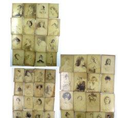 Fotografía antigua: ACTRICES VARIADAS, LOTE DE 84 ALBÚMINAS CABINET, FOTÓGRAFOS FRANCESES: NADAR, REUTLINGER, ETC.. Lote 36241762
