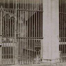 Fotografía antigua: 10 FOTOGRAFIAS ALBUMINAS DE DETALLES ARQUITECTÓNICOS DE LA CATEDRAL DE BARCELONA.1875-1900 . Lote 36310938