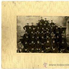 Fotografía antigua: ZARAGOZA , CONJUNTO MILITARES FOTÓGRAFO GRACIA 17 X 12 SIGLO XX. Lote 36337089