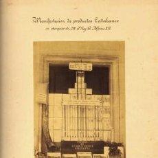 Fotografía antigua: FOTOGRAFIA ALBUMINA FANT FELIU DE GUIXOLS.1869.'MANIFESTACIÓN DE PRODUCTOS CATALANES...ALFONSO XIII'. Lote 36530729