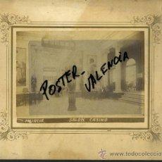 Fotografía antigua: FOTOGRAFIA ALBUMINA, MURCIA , SALON CASINO , FOTO , ORIGINAL CV11. Lote 36632796