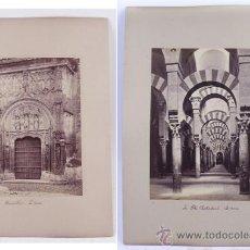 Fotografía antigua: CÓRDOBA. 1860-70'S. 2 ALBÚMINAS PUERTA IGLESIA+MEZQUITA. 22X16,5 CM. SOPORTE: 26X35 CM.. Lote 36653321