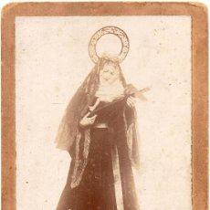 Fotografía antigua: SANTADER,SIGLO XIX, SANTA RITA DE CASIA, PARROQUIA SAN FRANCISCO,10,5X16. Lote 36784012