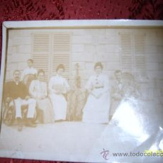 Fotografía antigua: FOTO NUM. 39 : GRUPO DE DAMAS Y CABALLEROS DE FINALES S. XIX PRINCIPIOS DEL S. XX. MAGNÍFICA FOTO.. Lote 36862597