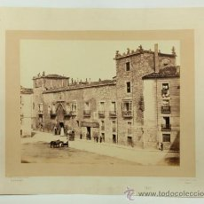 Fotografía antigua: BURGOS. CASA DEL CORDÓN, 1865. FOTOGRAFÍA: LAURENT. 26X33 CM. SOPORTE: 40X51 CM.. Lote 36900416