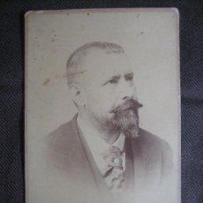 Fotografía antigua - Retrato del escritor Eugenio Sellés. Calvet Hermanos. Madrid - 37081714