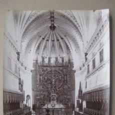 Fotografía antigua: BURGOS - CLOITRE DE MIRAFLORES, INTERIEUR DE L'EGLISE - AÑOS 1890-1900 - L. LEVI. Lote 37109709