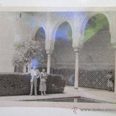 Fotografía antigua: FOTO ANTIGUA LA ALHAMBRA GRANADA . Lote 37174908