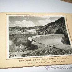 Fotografía antigua: PANTANO DE VALDEINFIERNO-1953-( RÍO ALCAIDE) TÉRMINO MUNICIPAL DE LORCA (MURCIA). Lote 37298452
