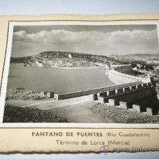 Fotografía antigua: PANTANO DE PUENTES-1953-( RÍO GUADALENTÍN) TÉRMINO MUNICIPAL DE LORCA (MURCIA). Lote 37298485