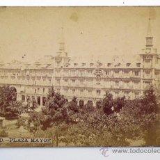 Fotografía antigua: MADRID, PLAZA MAYOR. 1890'S. ALBÚMINA 13,5X9,5 CM.. Lote 37441299