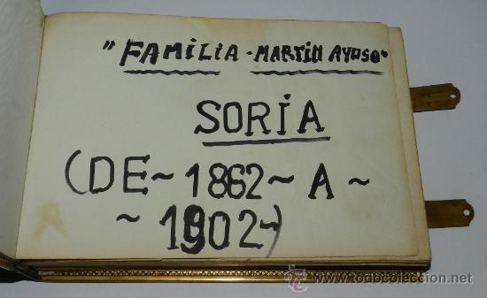 Fotografía antigua: ANTIGUO Y EXCEPCIONAL ALBUM DE FOTOGRAFIAS ALBUMINAS DE SORIA, CORRESPONDIENTES AL PERIODO 1862 A 19 - Foto 7 - 37566451