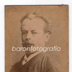 Fotografía antigua: NICOLÁS DE PIEROLA, EL CALIFA. PRESIDENTE DEL PERÚ, 1890'S. 8X12 CM.. Lote 218787651
