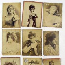 Fotografía antigua: ACTRICES DE ÓPERA Y TEATRO FRANCÉS, 1880'S. FOTOS: REUTLINGER Y OTROS, TAMAÑO CABINET 10X15 APROX.. Lote 37812831