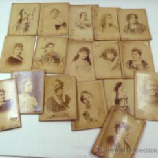 Fotografía antigua: ACTRICES Y CANTANTES, TEATRE CATALÀ, LOTE DE 17 FOTOS CABINET DE ANTONI ESPLUGAS, BARCELONA. 1880'S.. Lote 37813751