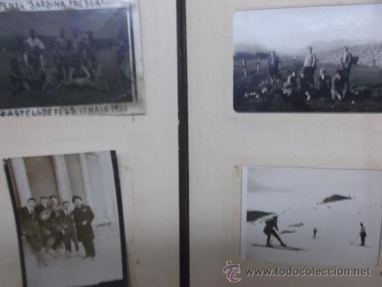 ALBUM CON 20 FOTOGRAFIAS PEQUEÑAS SIN DATOS AÑOS 20 (Fotografía Antigua - Albúmina)