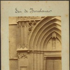 Fotografía antigua: ALBÚMINA DEL FOT. FCO. ROGENT: 'SEU DE BARCELONA' (12 X 17 CM. SOPORTE: 16 X 24). CA. 1880. Lote 38093120