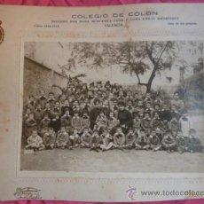 Fotografía antigua: VALENCIA. COLEGIO COLÓN. 1918-19. Lote 38226061