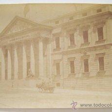 Fotografía antigua: CIRCA 1870 PALACIO DE LAS CORTES CONGRESO DE LOS DIPUTADOS POR JEAN LAURENT. Lote 38398564