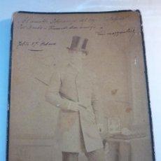 Fotografía antigua: MATADOR DE TOROS LUIS MAZZANTINI, DEDICATORIA Y AUTÓGRAFO. FOTOGRAFO J.A. SUAREZ. HABANA. AÑO 1887. Lote 44641965
