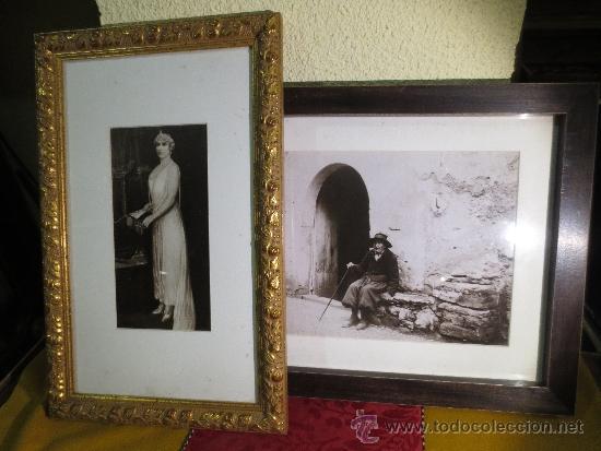 DOS MAGNIFICAS FOTOS ENMARCADAS SIN COLGAR (Fotografía Antigua - Albúmina)
