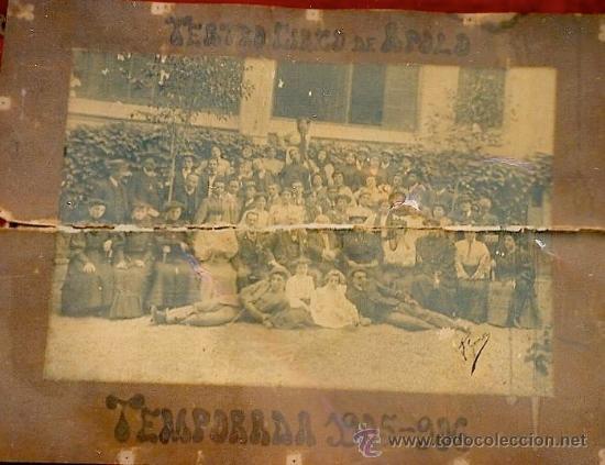 Fotografía antigua: VALENCIA TEATRO CIRCO APOLO 1905 - 1906 FOTOGRAFIA GRANDE 42 X 61 - Foto 13 - 38804530