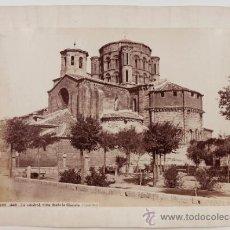 Fotografía antigua: TORO (ZAMORA), LA CATEDRAL DESDE LA GLORIETA, FOTO: LAURENT. 1870'S. 25X34 CM. SOPORTE: 31X43 CM.. Lote 39070245