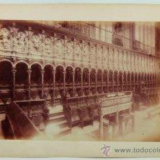 Fotografía antigua: CORO DE IGLESIA POR IDENTIFICAR, 1880'S. ALBÚMINA 24X34 CM. SOPORTE: 31X47 CM.. Lote 39146254