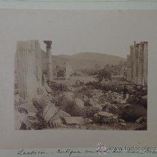 Fotografía antigua: DOS FOTOGRAFIAS ALBUMINAS DE SMYRNA IZMIR (TURKEY) MAGNESIA VALLE DEL MEANDRO Y DENIZLI (TURKEY) LAO. Lote 39185958