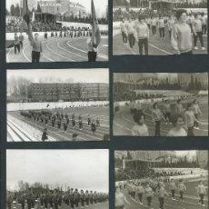 Fotografía antigua: LOTE DE 6 FOTOS 1 OLIMPIADAS DE FARMACIA AÑO 1964 DESFILE MADRID. Lote 39267297