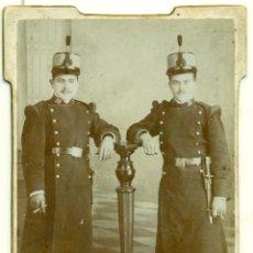 Fotografía antigua - MELILLA. DOS SOLDADOS REGIMIENTO INFANTERIA 59. HACIA 1900. - 39606100