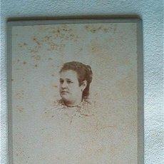 Fotografía antigua: FOTO ANTIGUA SIGLO XIX. FOTOG. SANCHEZ (VALENCIA). ORIGINAL¡¡¡. Lote 39812897