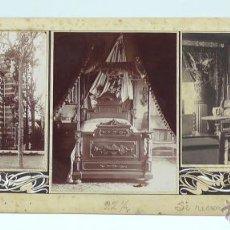 Fotografía antigua: 3 FOTOGRAFÍAS EN COLLAGE PUBLICADAS EN LA ILUSTRACIÓN ARTÍSTICA, AÑO 1901, TAMAÑO: 18X50 CM.. Lote 39890050