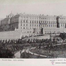 Fotografía antigua: ANTIGUA FOTOGRAFIA 1896 -MADRID, PALACIO REAL, JARDINES SABATINI EN OBRAS - HAUSER Y MENET - MIDE 22. Lote 38242860