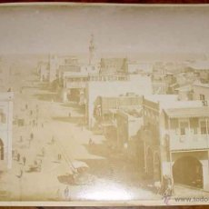 Fotografía antigua: 2 OLD PHOTO ALBUMEN - PORT SAID IS A NORTHEASTERN EGYPTIAN CITY NEAR THE SUEZ CANAL - EN LA MISMA C. Lote 38249910